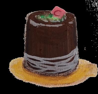 Chocolat et fruit de la passion - technique pastel gras