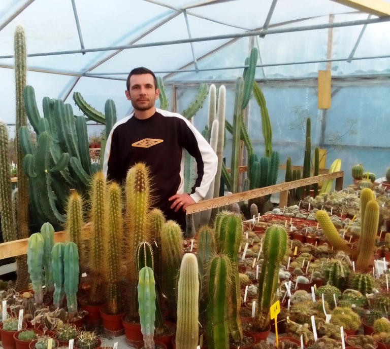 portrait Damien Danjou producteur de cactus