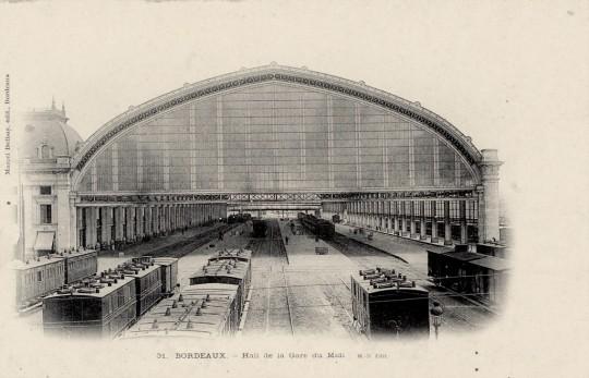 Carte postale de la Gare Saint-Jean datant du début du XXème siècle ©Archives de Bordeaux