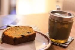 Carrot cake et thé bio