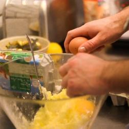 Préparation du Lemon Trizzle